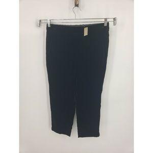 New J Crew Velvet Pull-On Easy Pants Black 12P